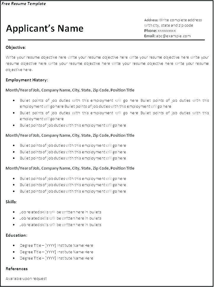 Printable Cv Template For School Leavers