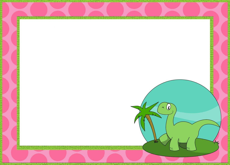 Printable Dinosaur Invitation Templates