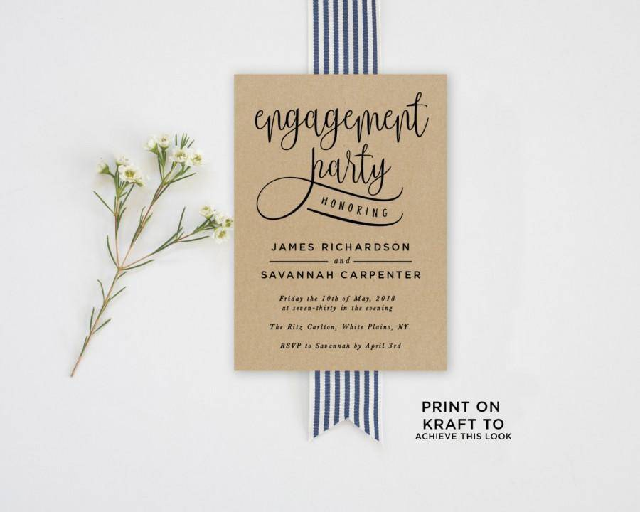 Printable Engagement Invite Templates