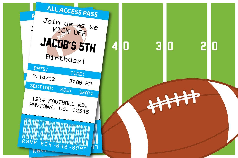 Printable Football Invitation Templates