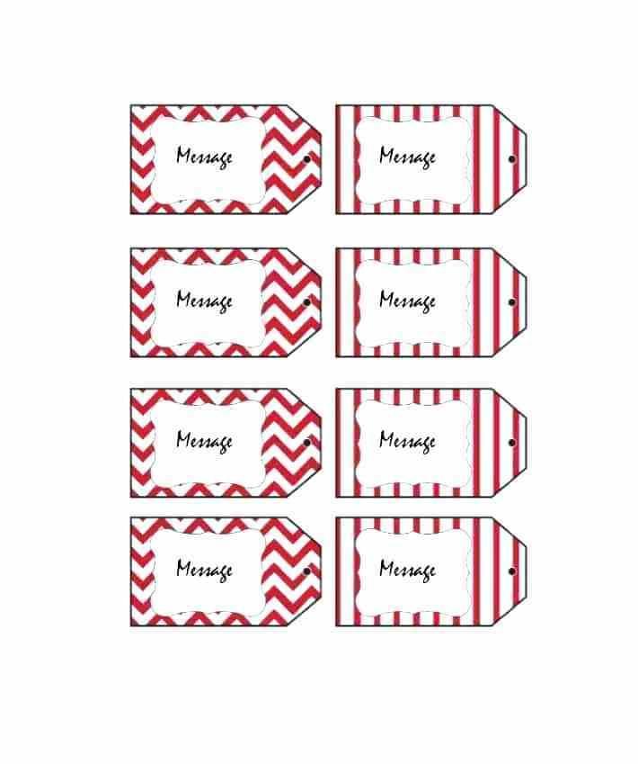 Printable Gift Bag Tag Template