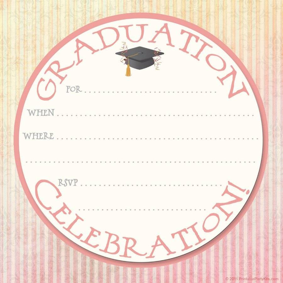 Printable Graduation Invitation Templates Free