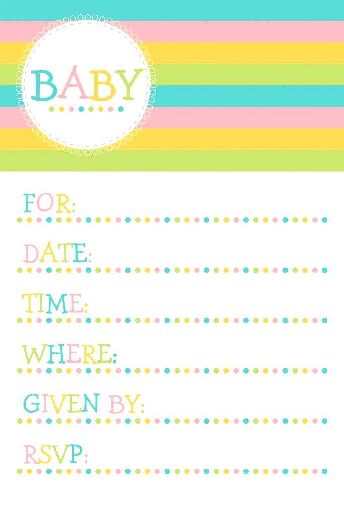 Printable Invitation Templates For Baby Shower