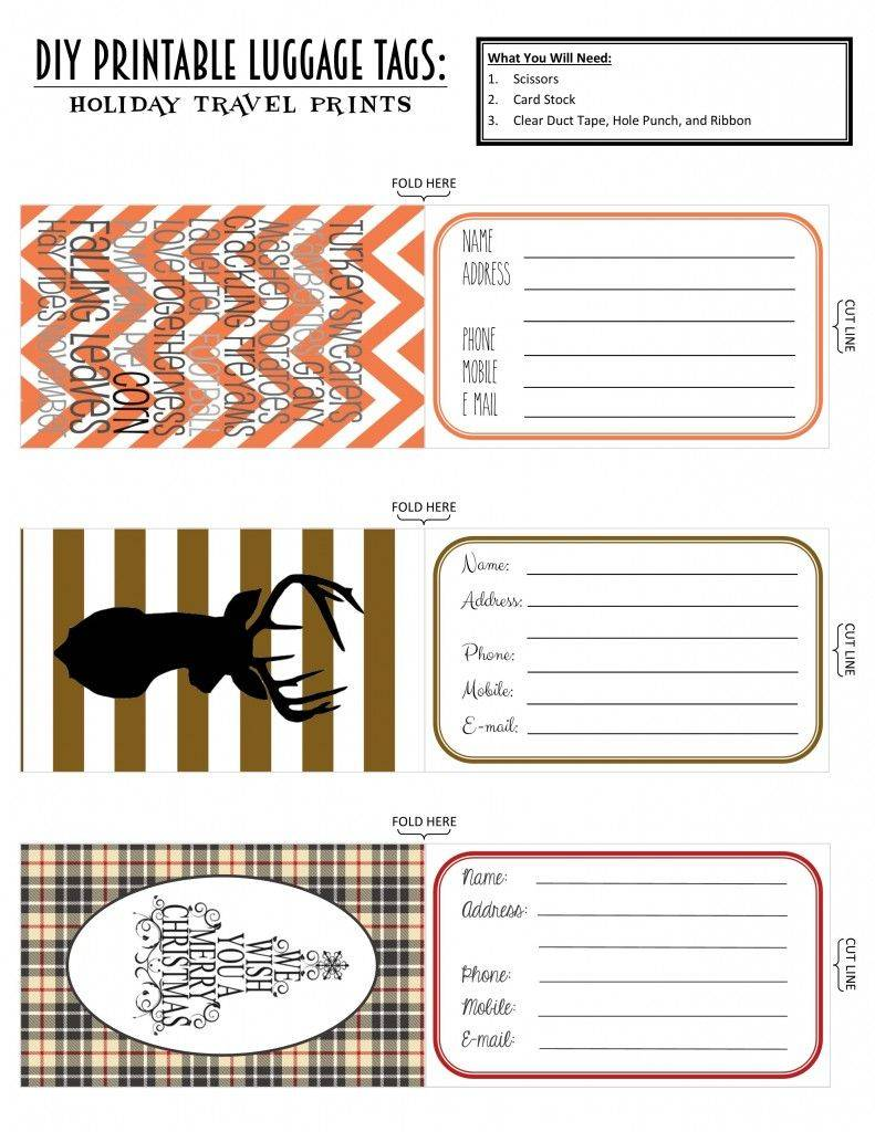 Printable Luggage Tags Template Air Canada