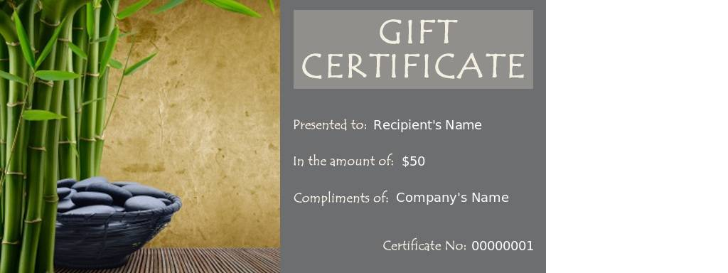 Printable Massage Gift Certificate Templates