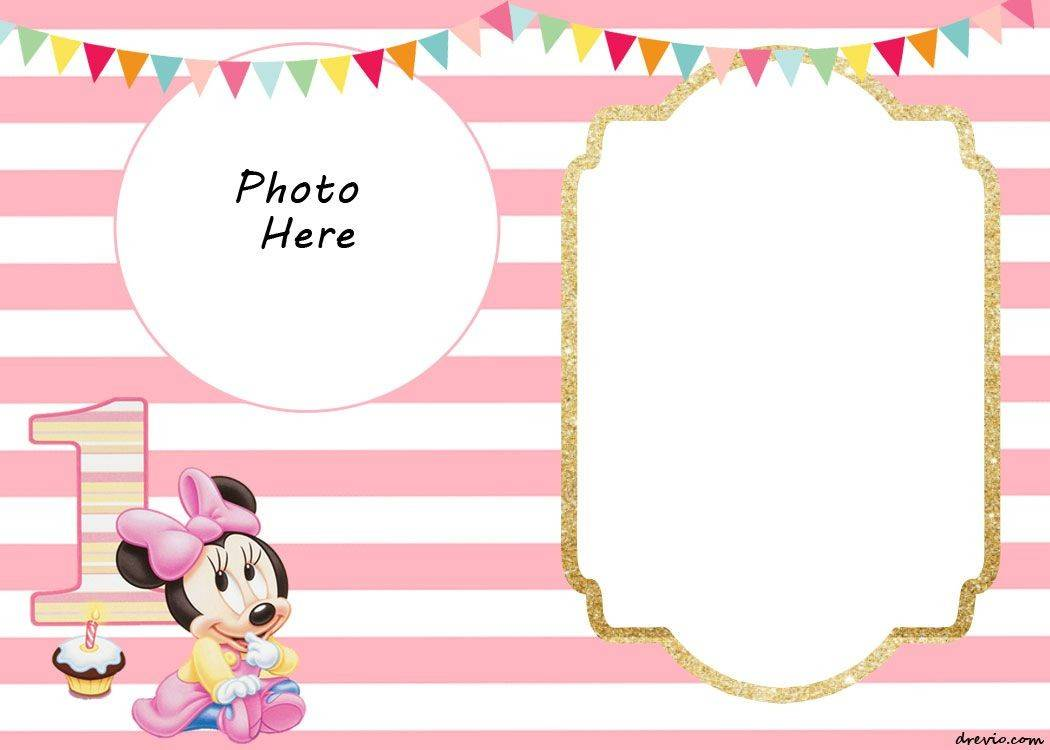 Printable Minnie Mouse Birthday Invitation Templates