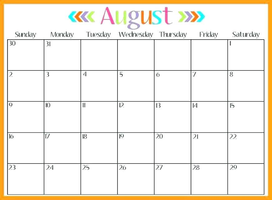 Printable Monthly Calendar Planner Template