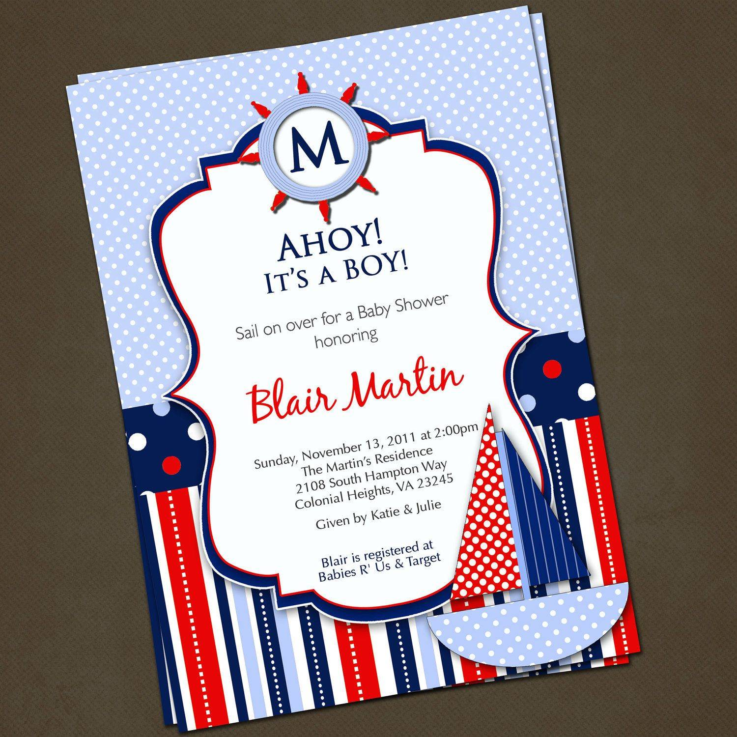 Printable Nautical Invitation Template
