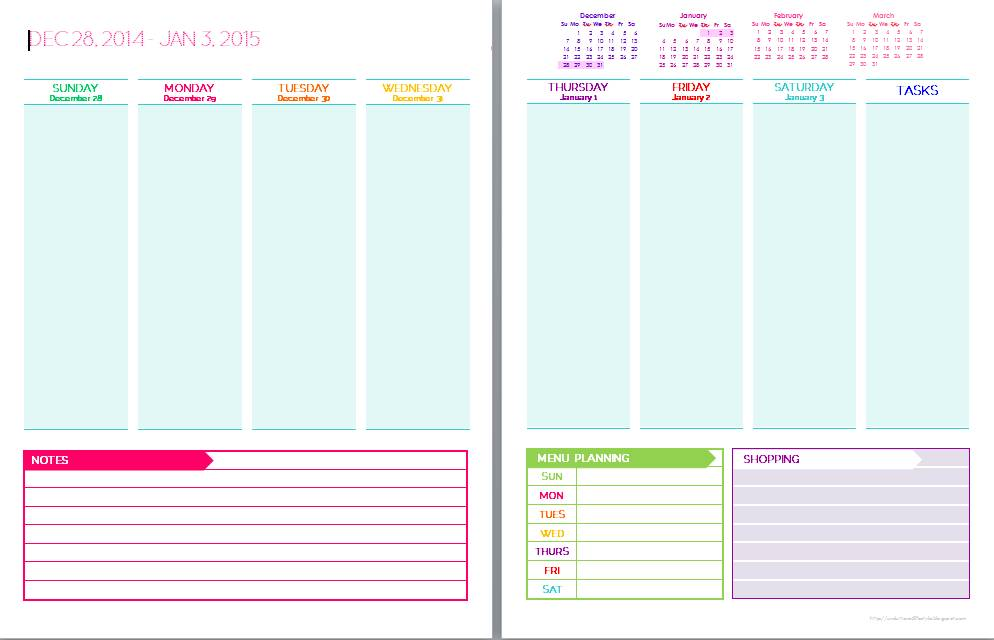Printable Planner Sticker Templates