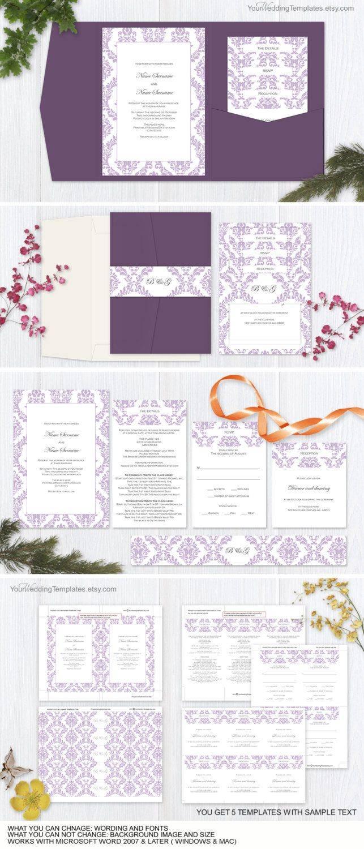 Printable Pocket Invitation Templates
