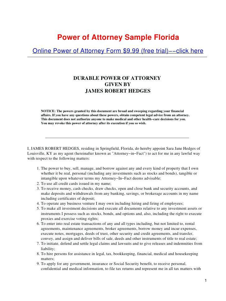 Printable Power Of Attorney Forms For Virginia