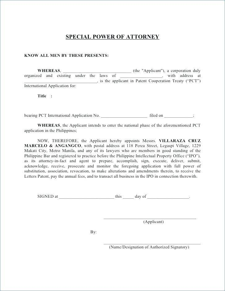 Printable Power Of Attorney Forms Indiana