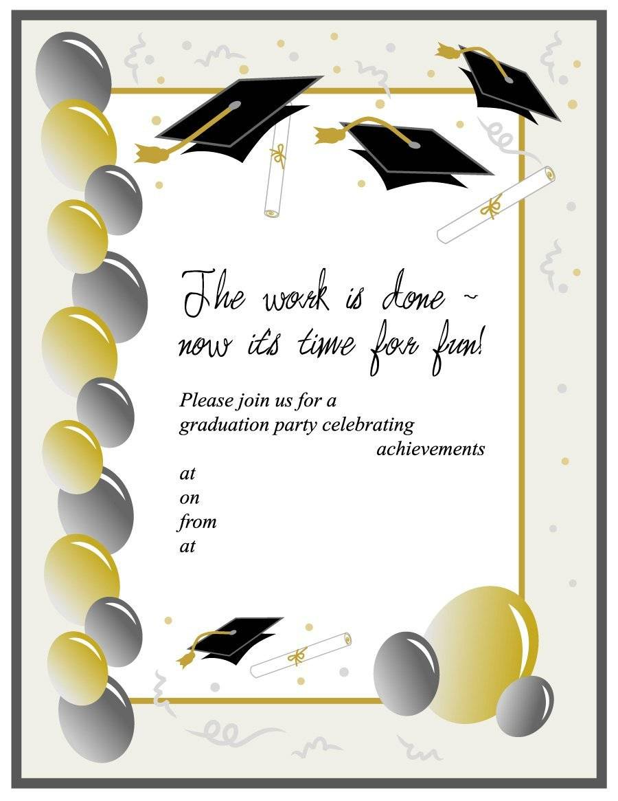 Printable Preschool Graduation Invitation Template