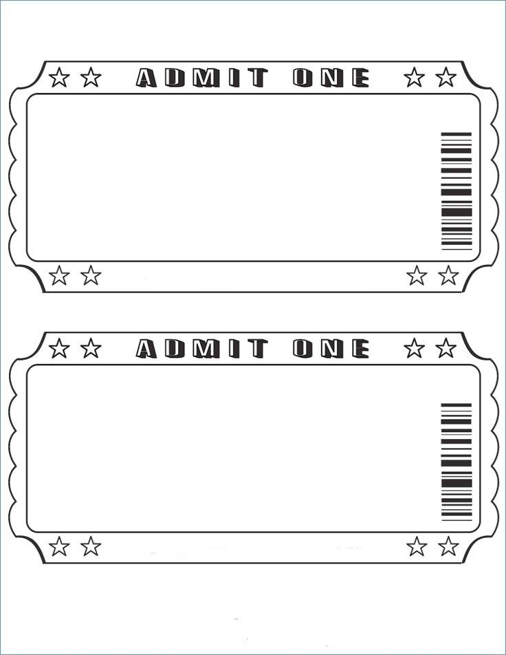 Printable Prom Ticket Template