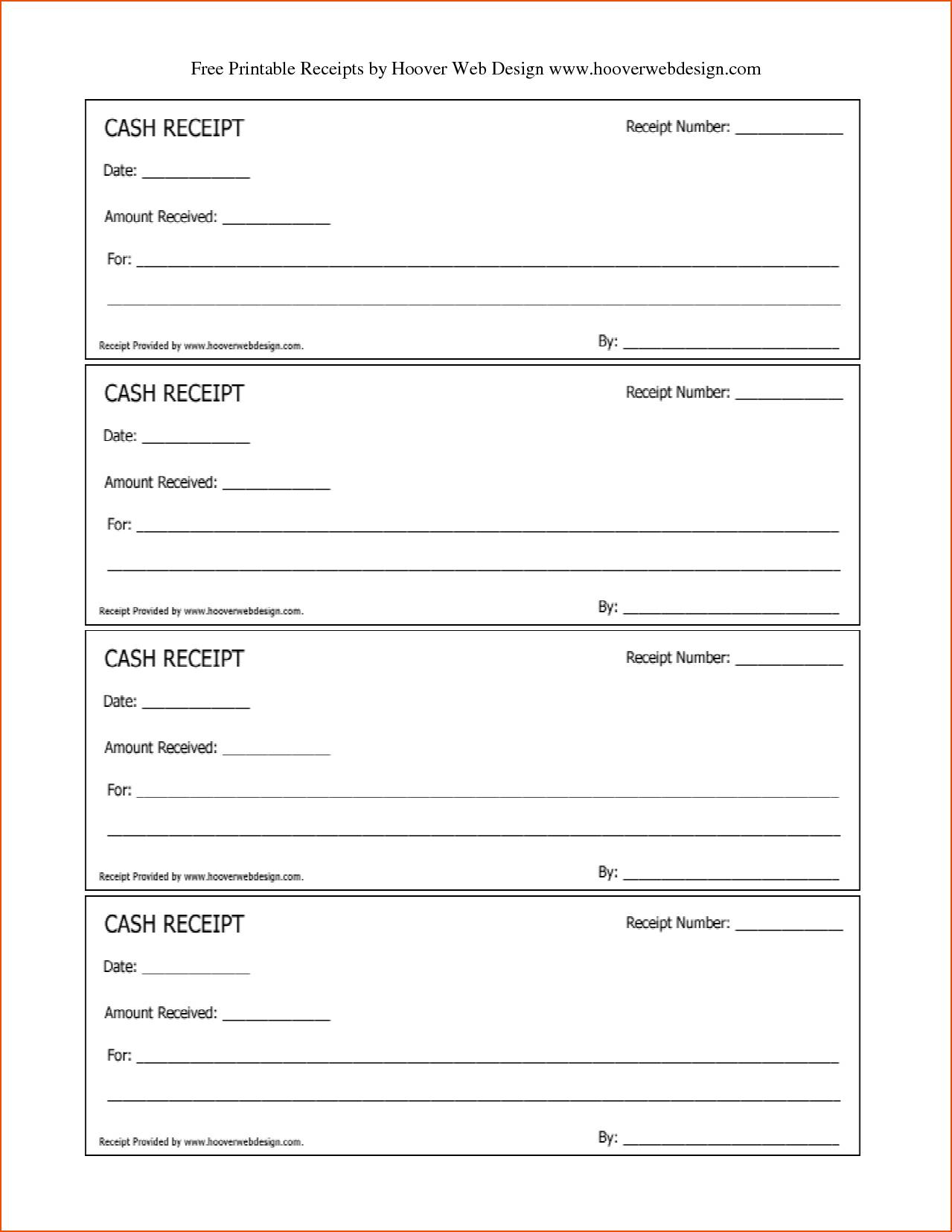 Printable Receipts Templates