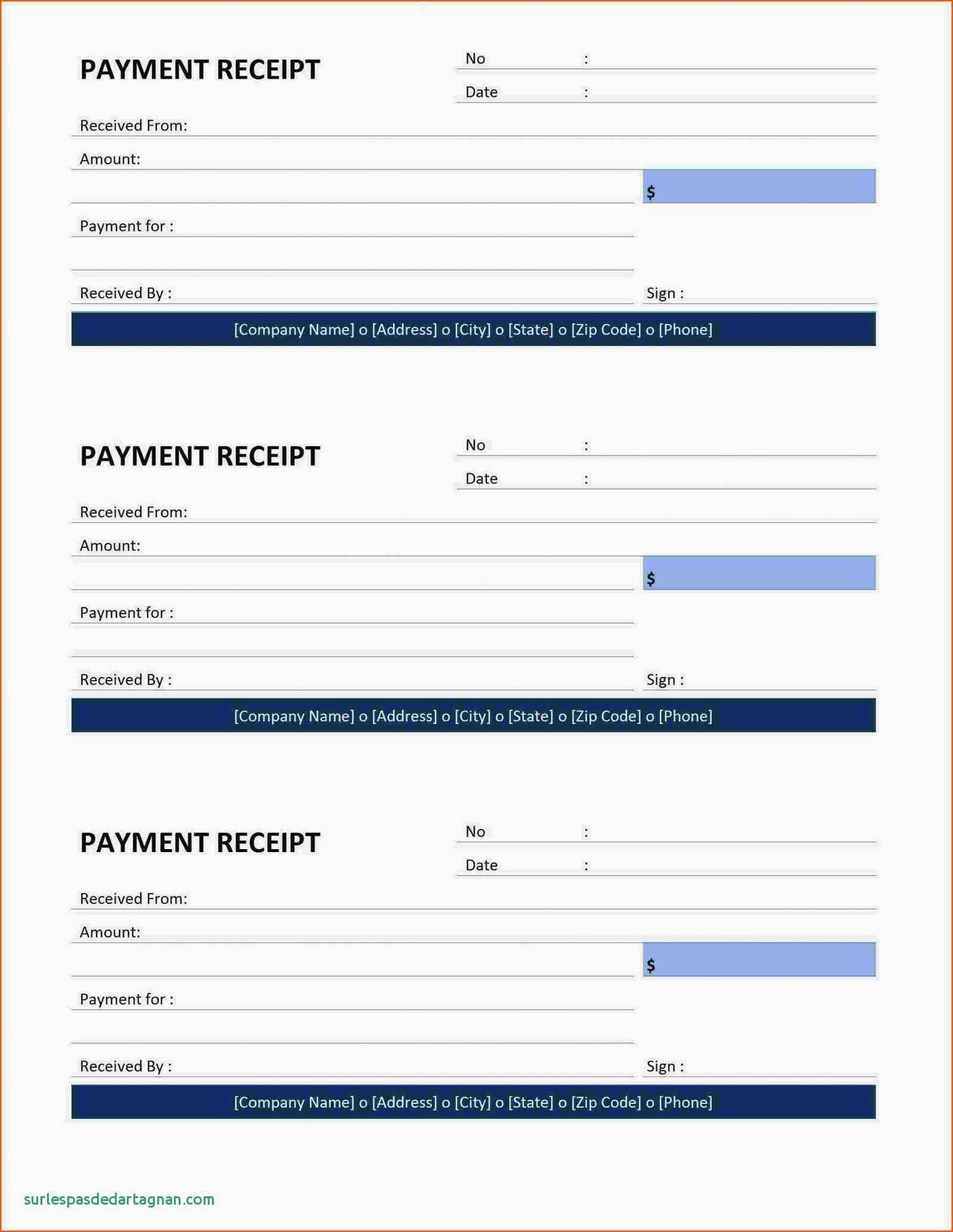 Printable Rent Receipts Templates