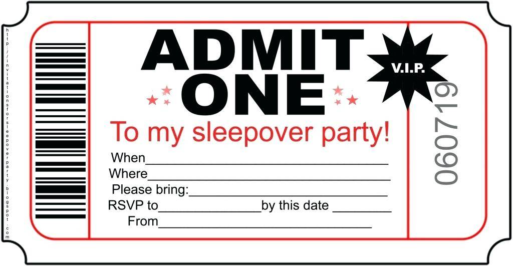 Printable Slumber Party Invitation Templates
