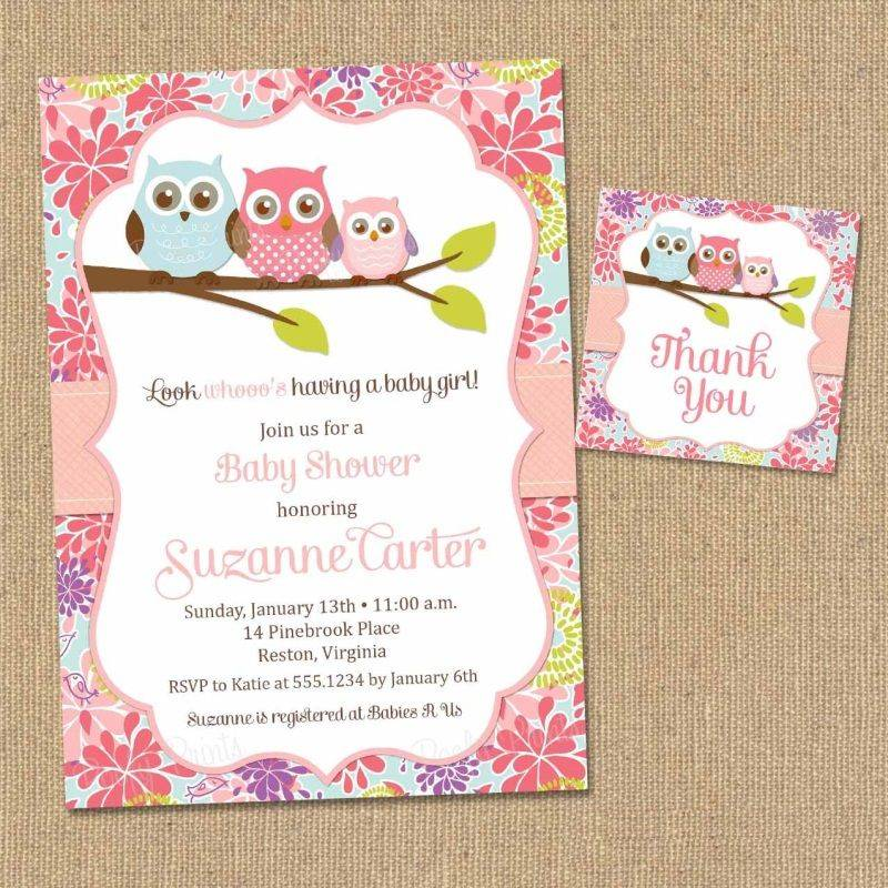 Printable Templates For Baby Shower Invitations