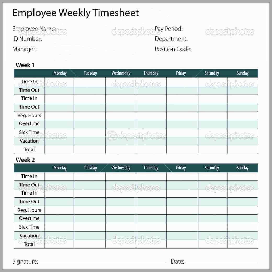 Printable Timesheet Template Word