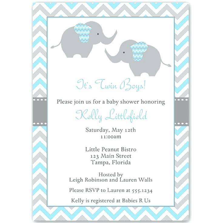 Printable Twin Baby Shower Invitation Templates