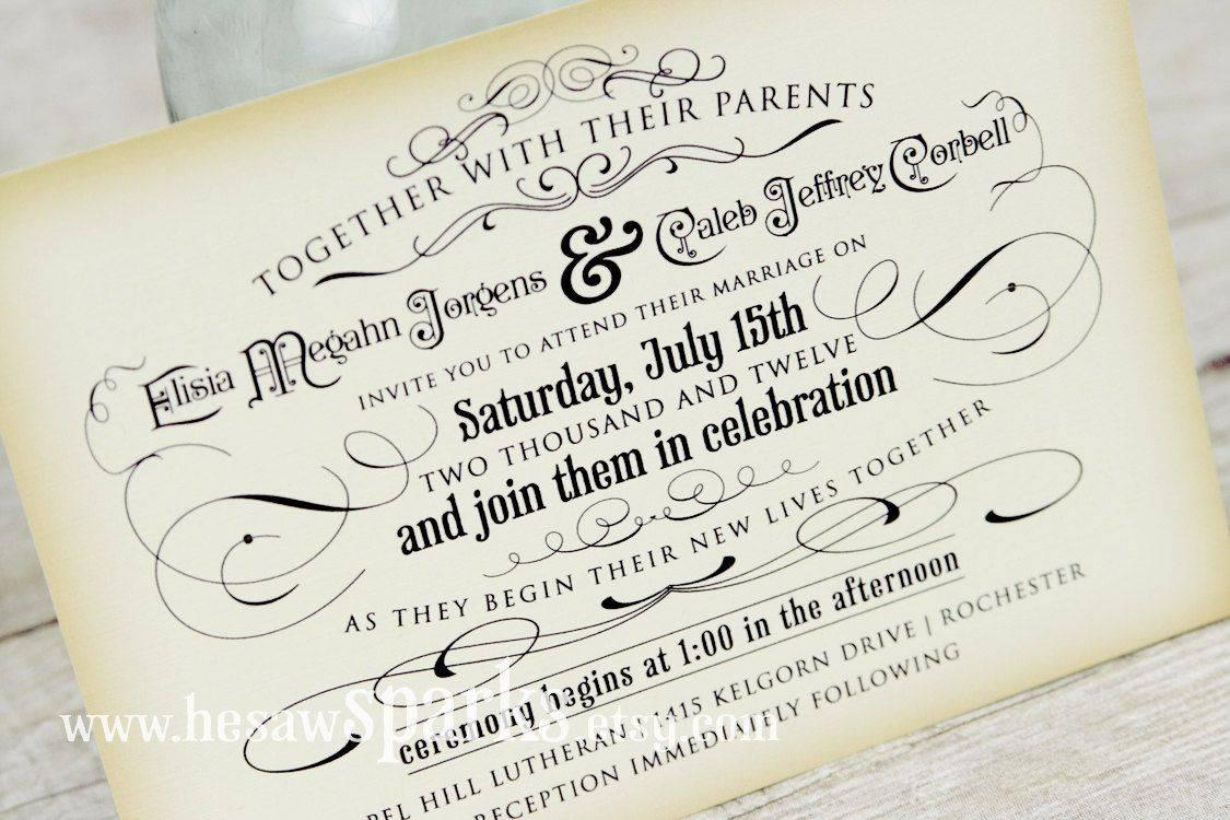 Printable Vintage Invitation Templates
