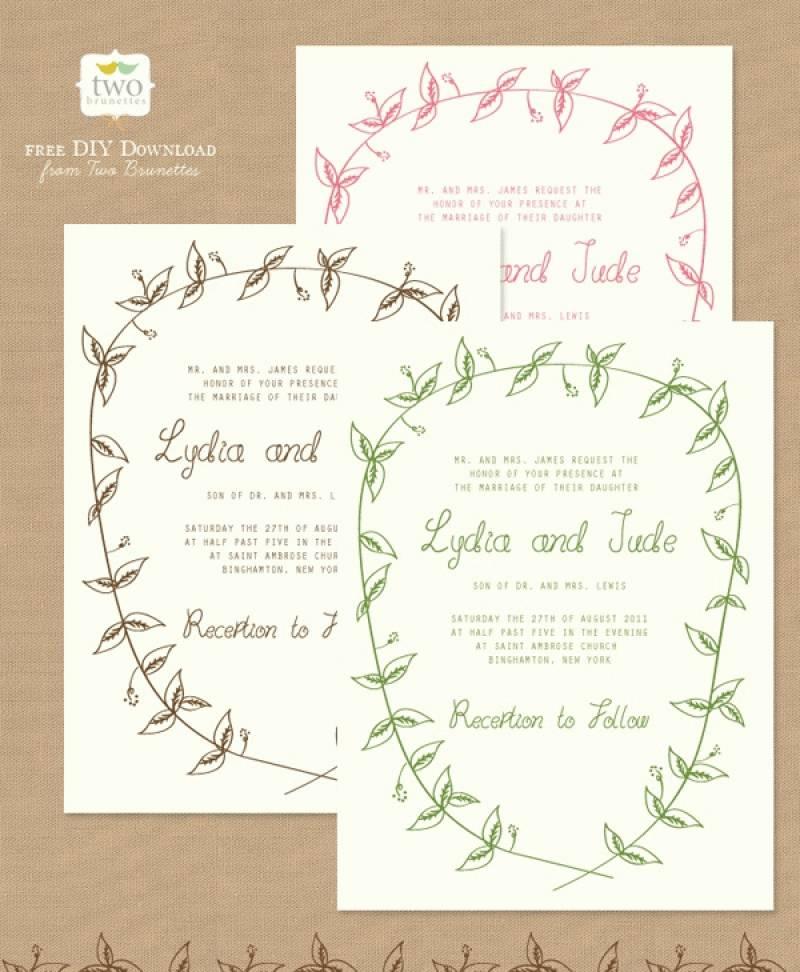 Printable Wedding Invitation Templates Free Download
