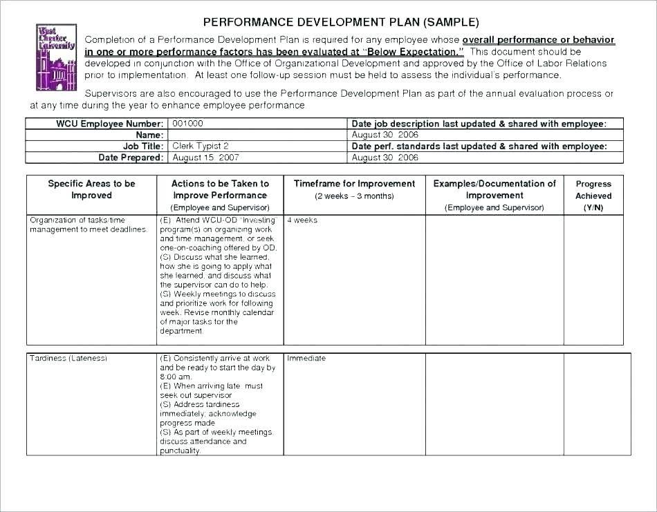Printable Work Plan Template