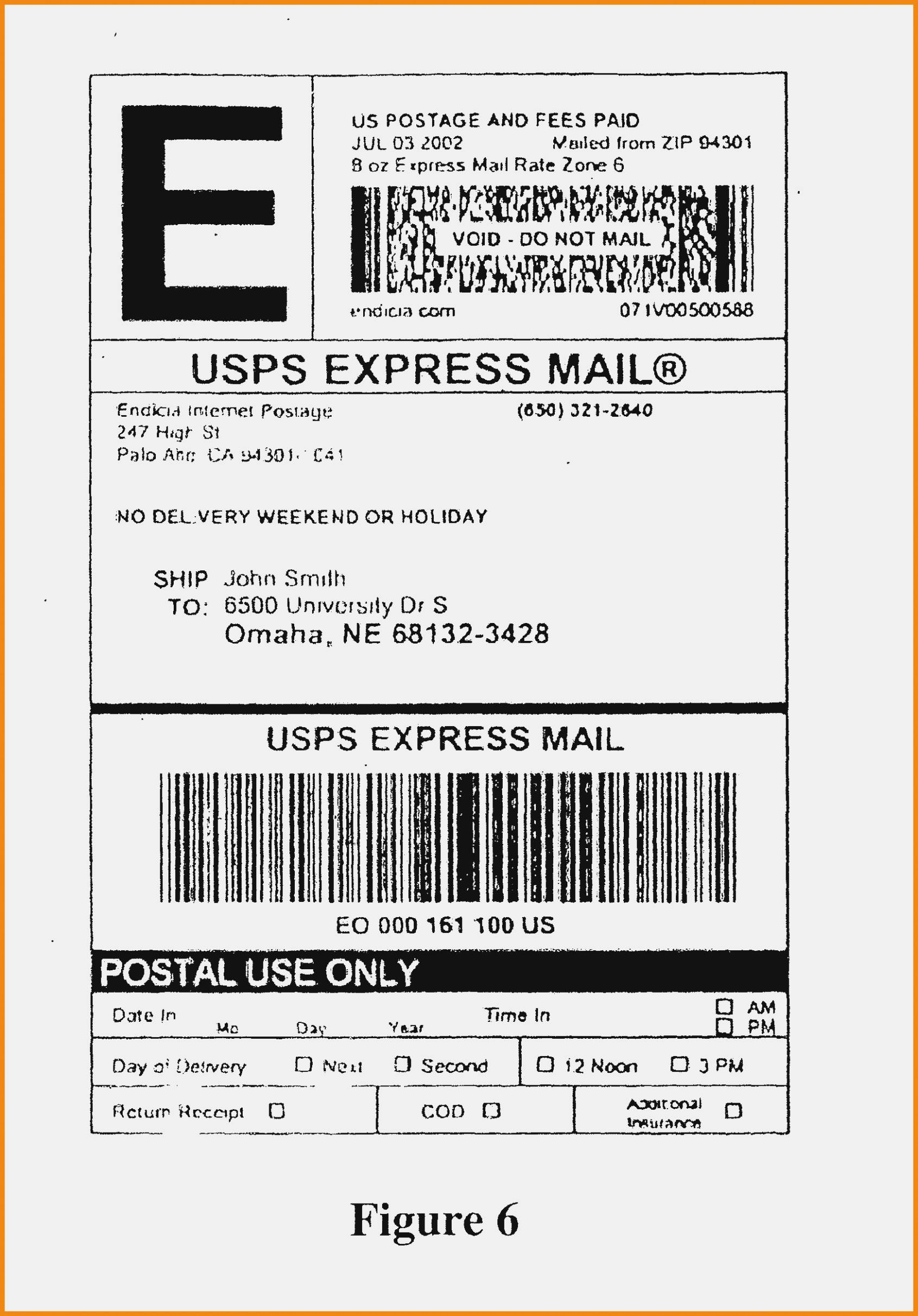 Priority Mail Address Label Template