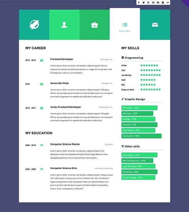 Privado Interactive Resume & Portfolio Template