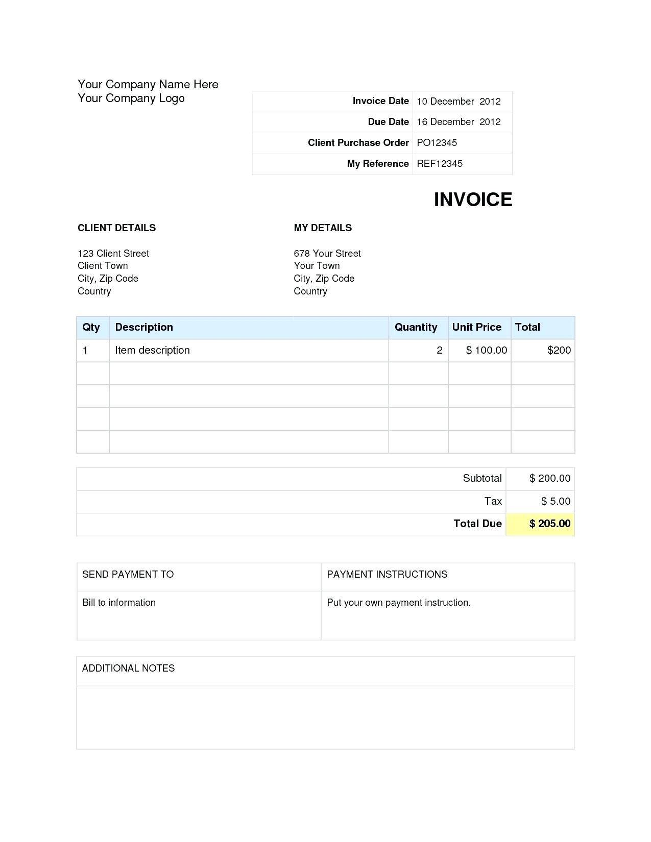 Private Car Sale Invoice Template Australia