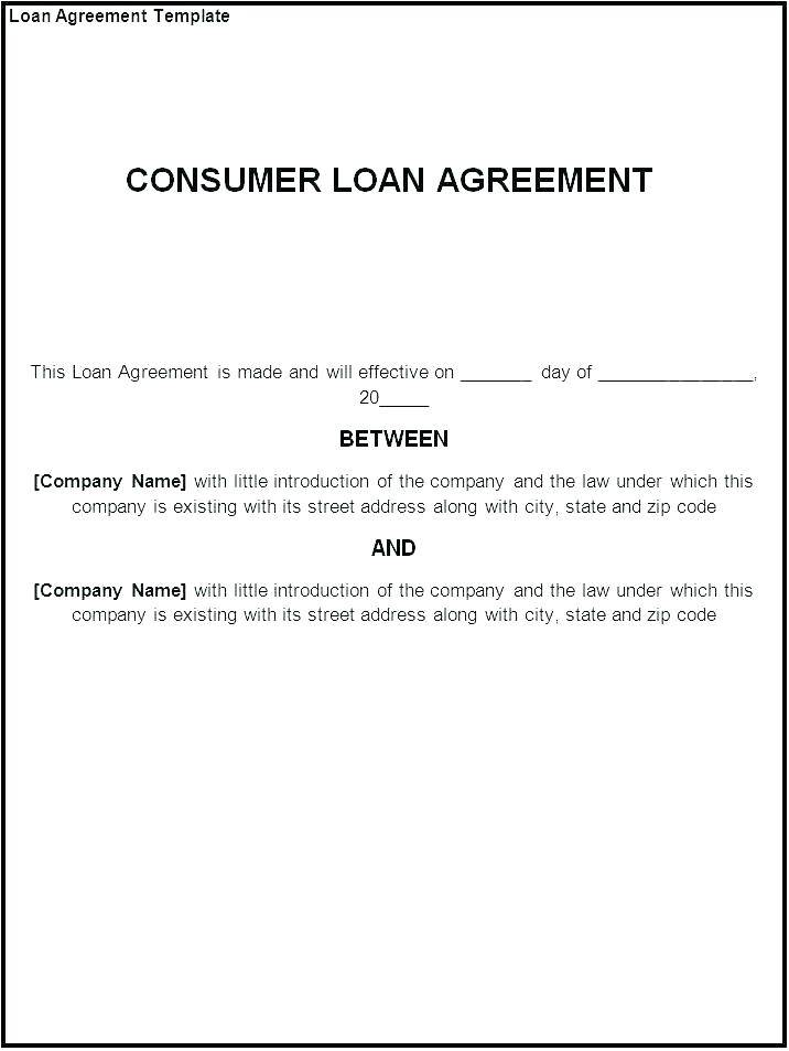 Private Loan Agreement Template Free Uk