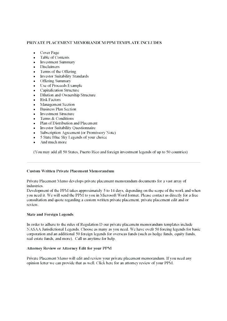 Private Placement Subscription Agreement Template