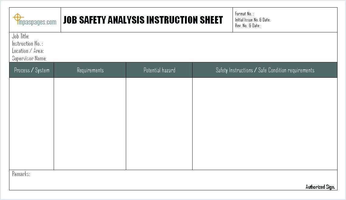 Process Hazard Analysis Template