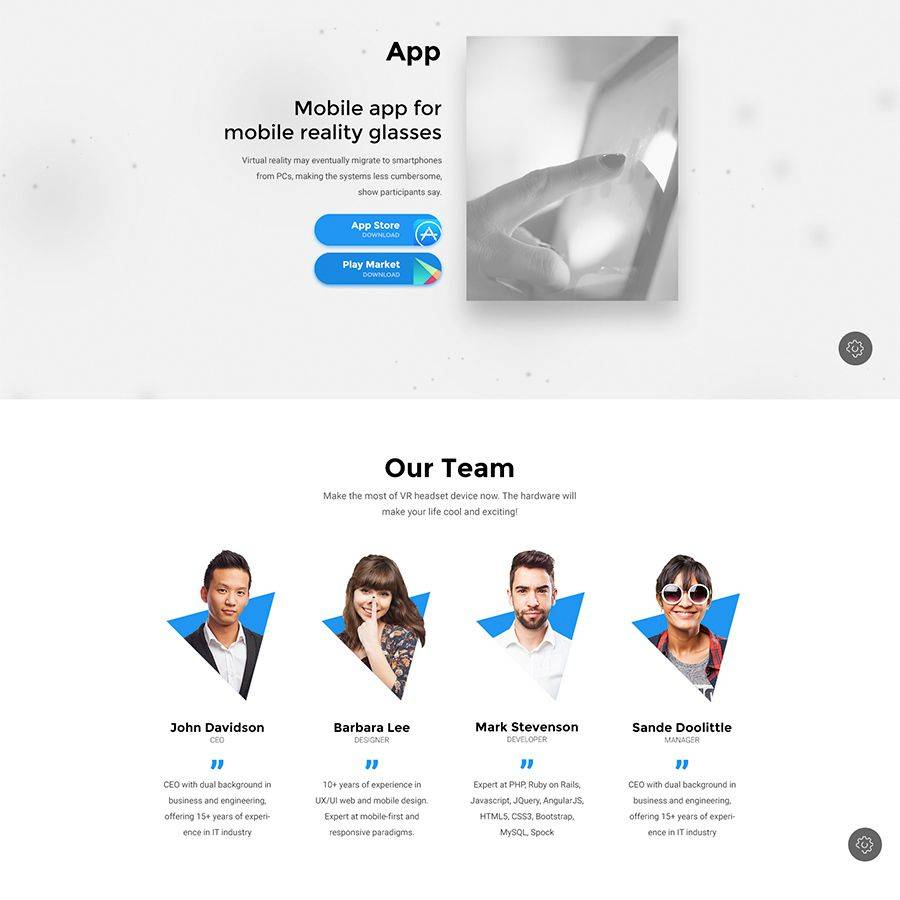 Product Landing Page Bootstrap Template