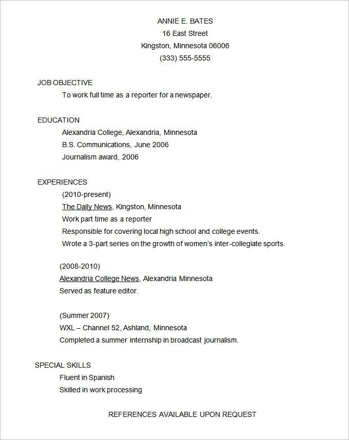 Professional Cv Template Word 2016