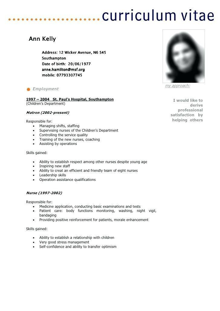 Professional Cv Template Word English