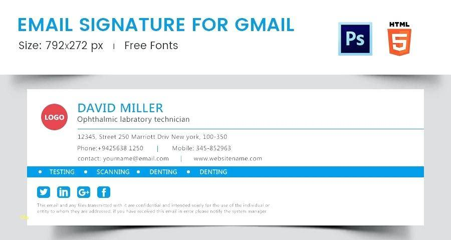 Professional Email Signature Examples Free