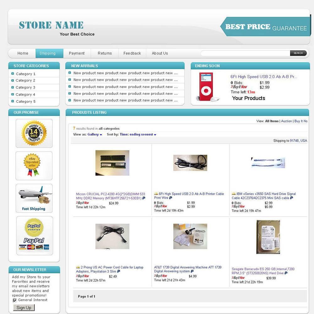Professional Looking Ebay Templates