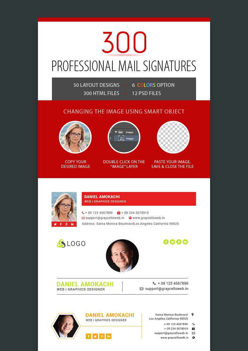 Professional Outlook Email Signature Template