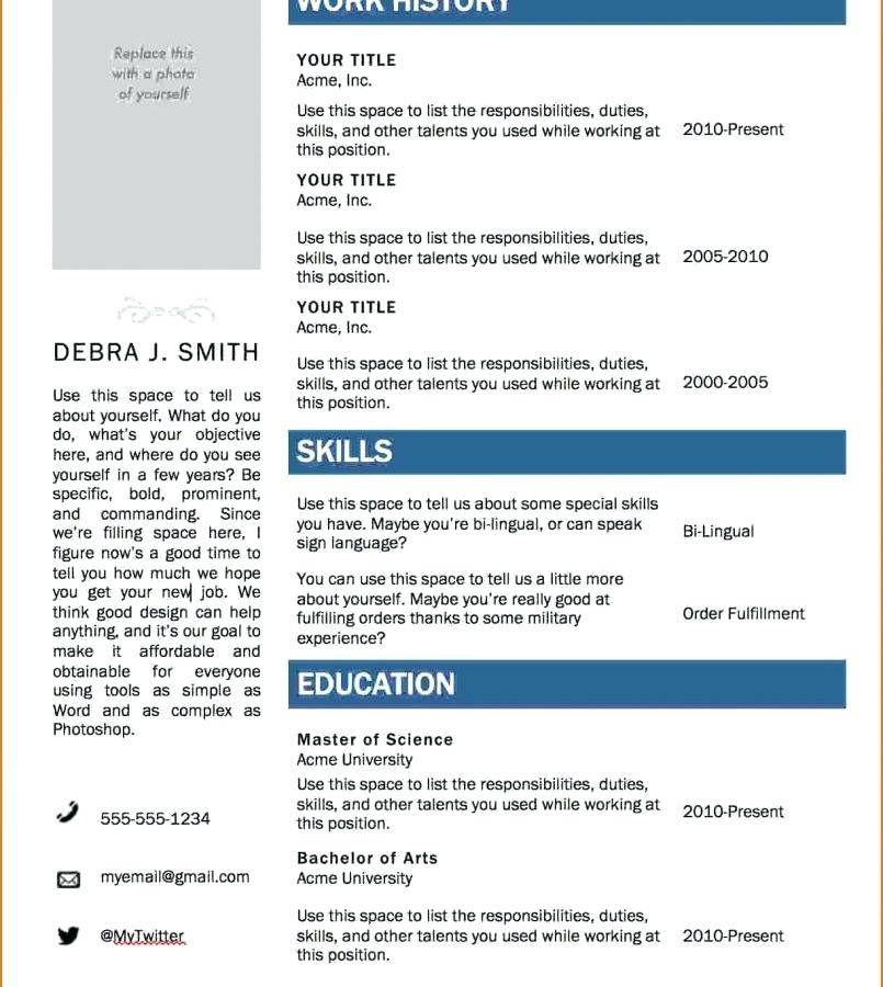 Professional Resume Templates For Freshers