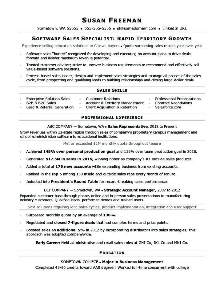 Professional Sales Resume Templates