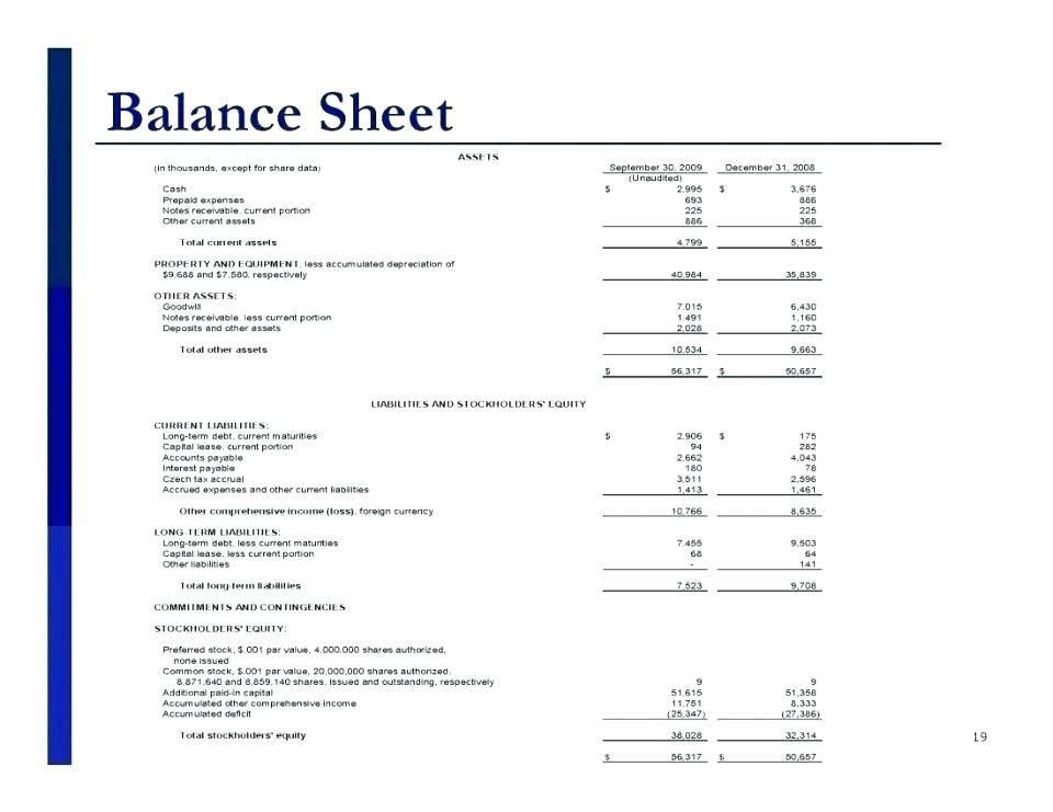 Profit And Loss Balance Sheet Form
