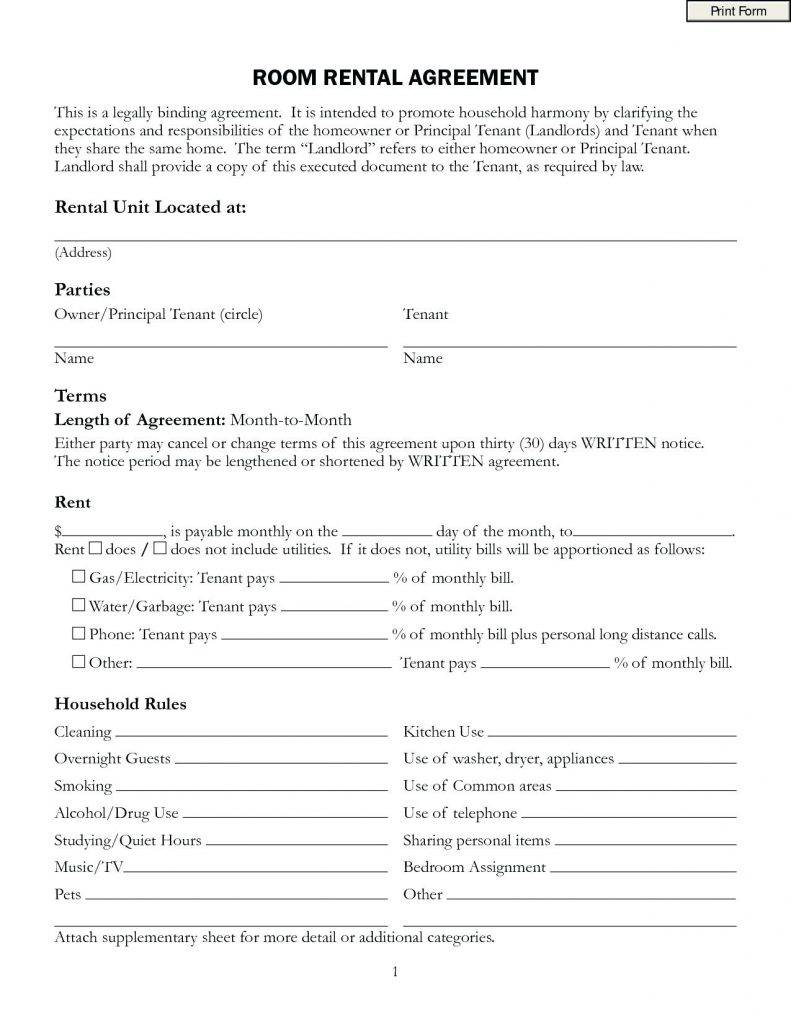 Profit Sharing Agreement Form