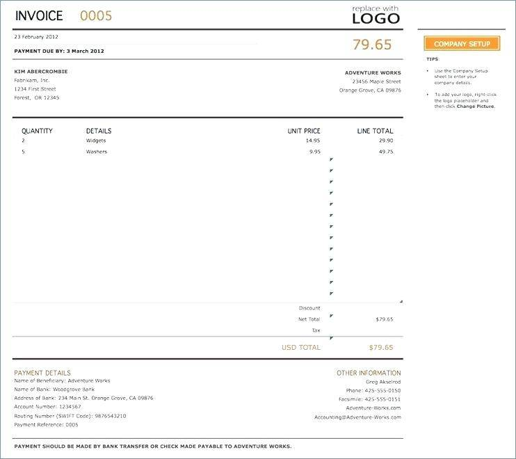 Proforma Invoice Template Docx