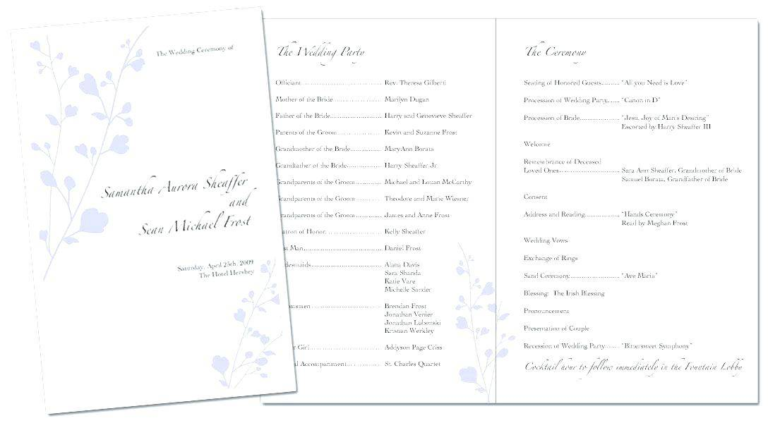 Program Booklet Template Ms Word