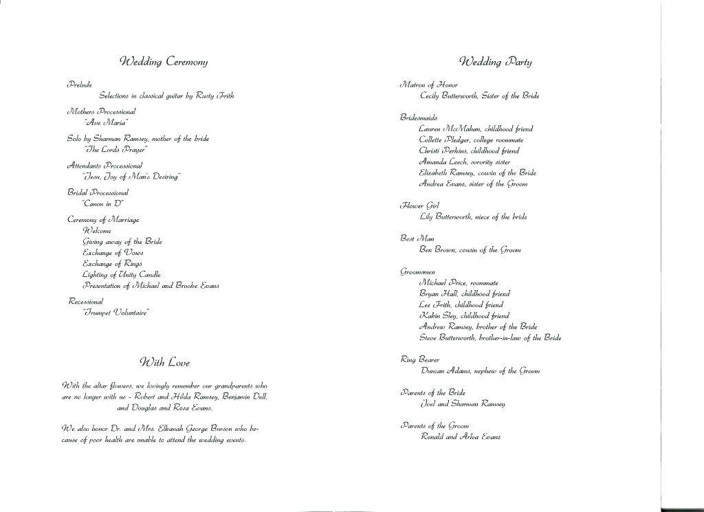 Program Booklet Template Publisher
