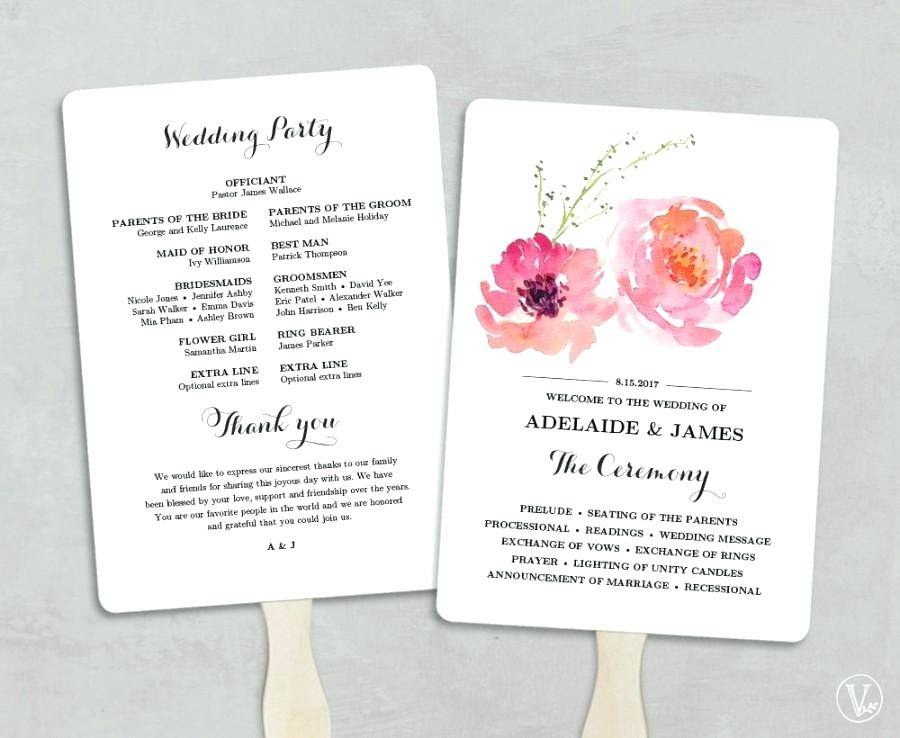 Programs For Wedding Ceremonies Templates