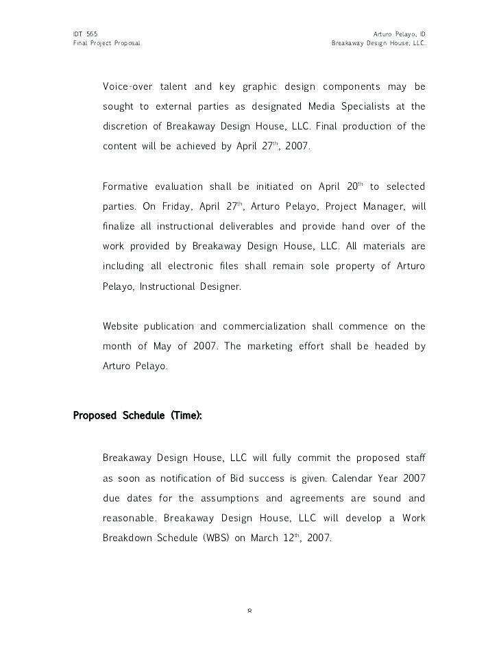 Project Bid Template Word Doc