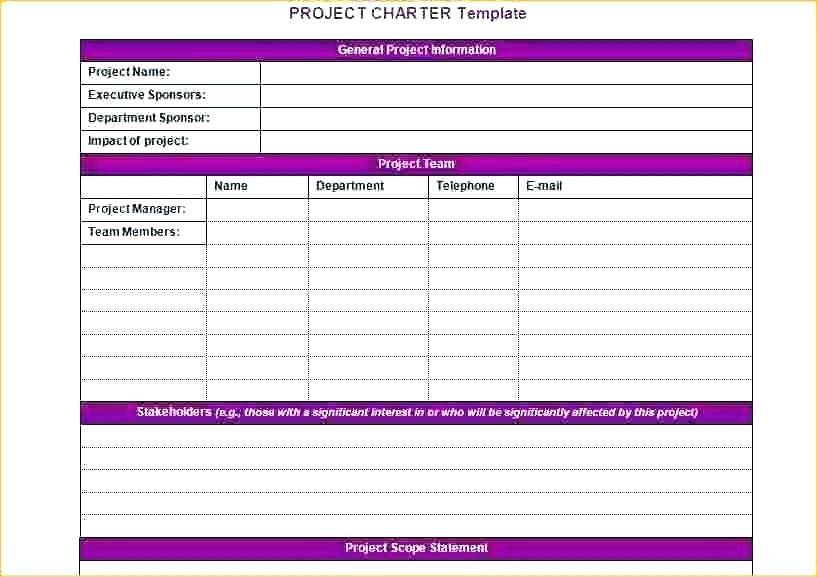 Project Charter Template Project Management Docs