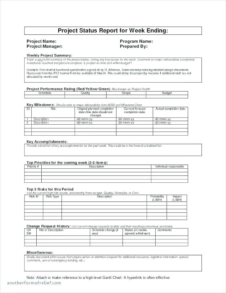 Project Forecast Report Template